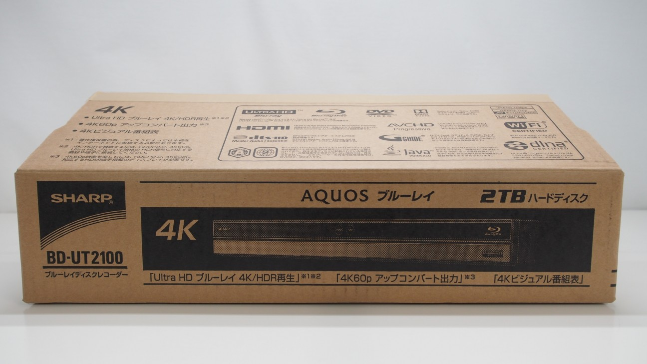 【中古】SHARP BD-UT2100 【コード21-00479】